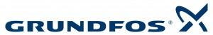 Logo firmy Grundfos.