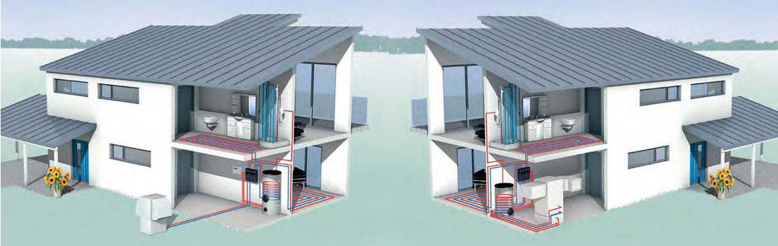 Schemat instalacji powietrze/woda.